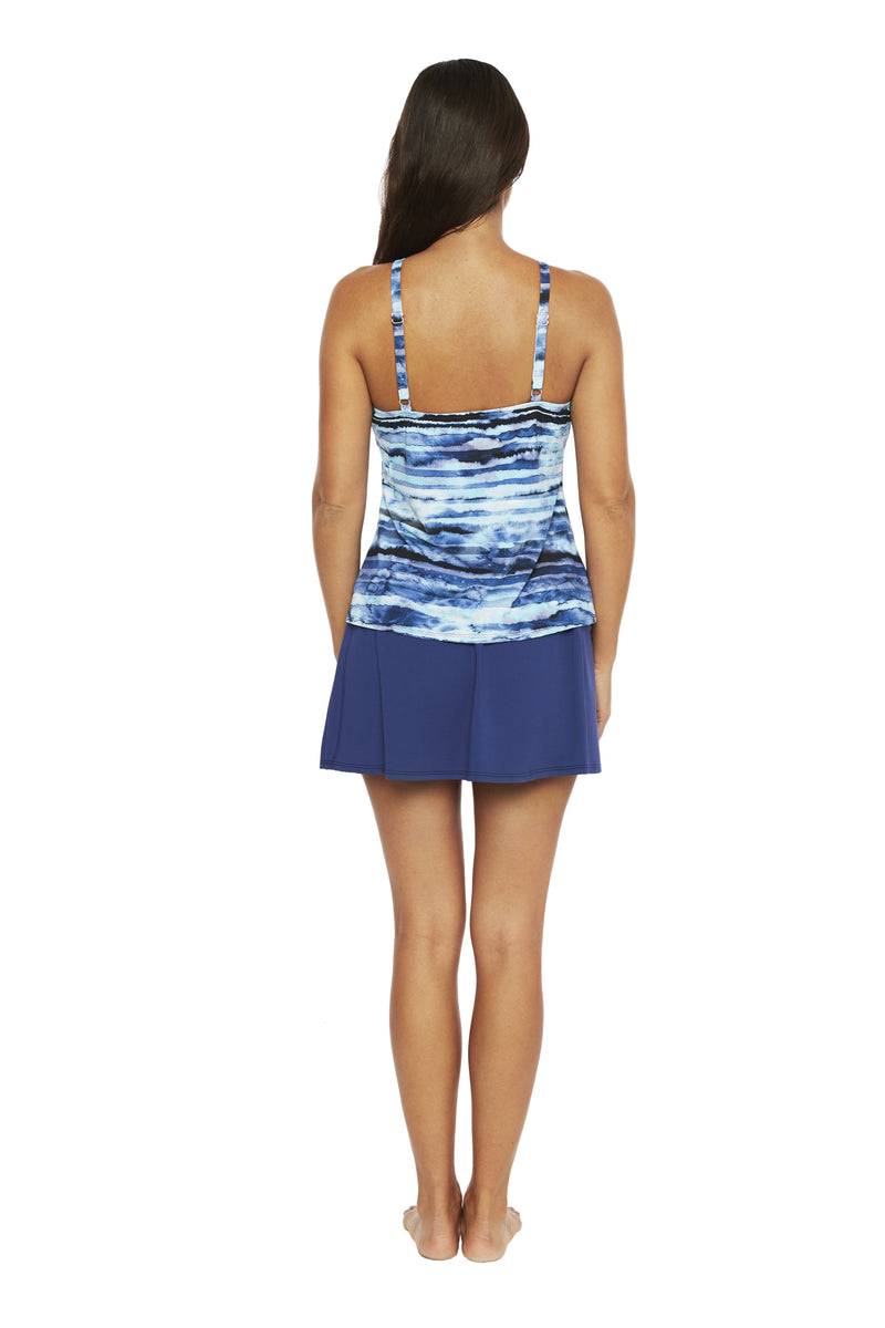 Salt Water Tie Dye High Neck Tankini
