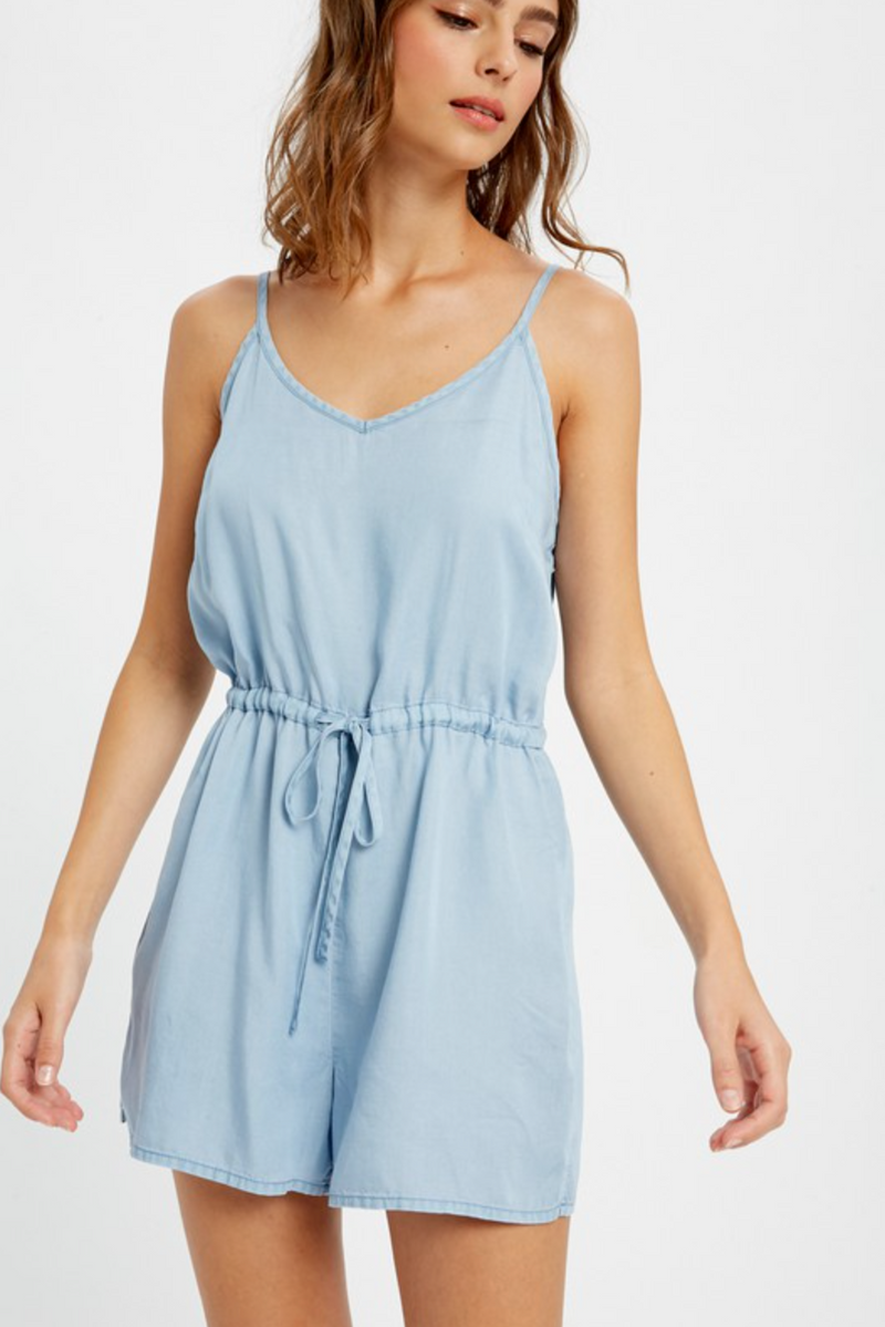 Casual Light Denim Romper