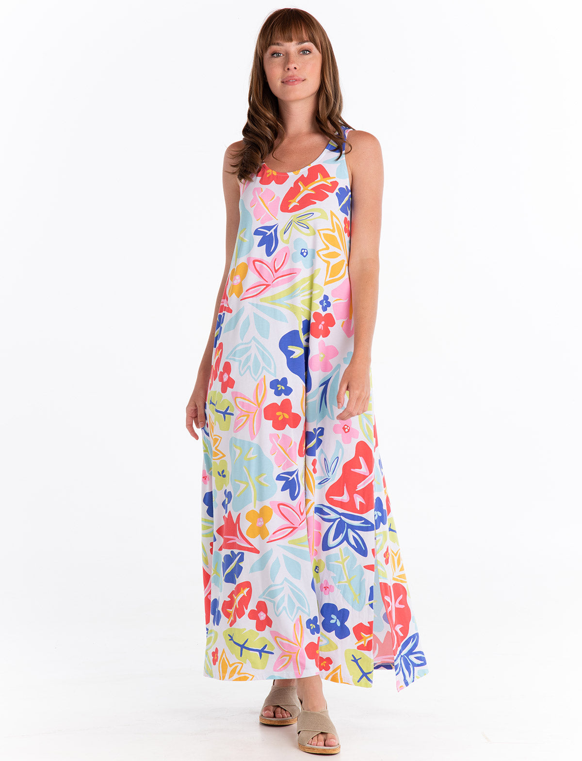 Rainbow Blooms Kimberly Maxi Dress