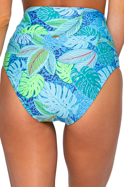 Fold Over High Waist Swim Bottom
