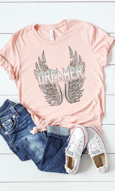 Dreamer with wings graphic tee