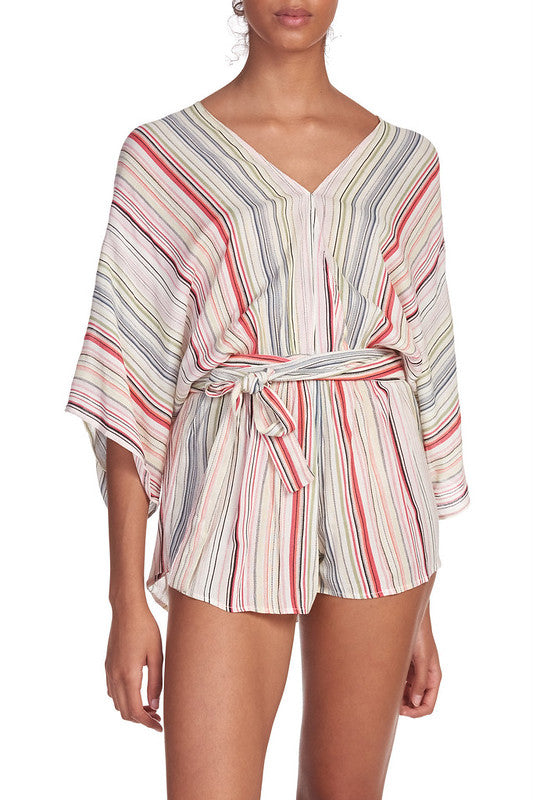 Vacay Calling Striped Romper