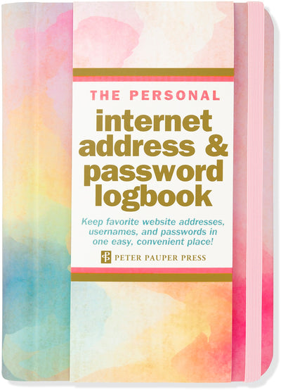 WATERCOLOR SUNSET INTERNET ADDRESS & PASSWORD LOGBOOK