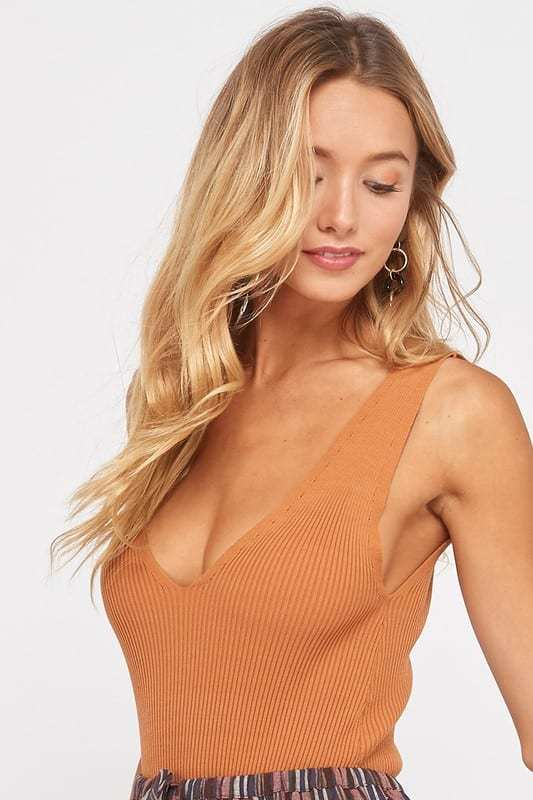 Amber Ribbed Bodysuit