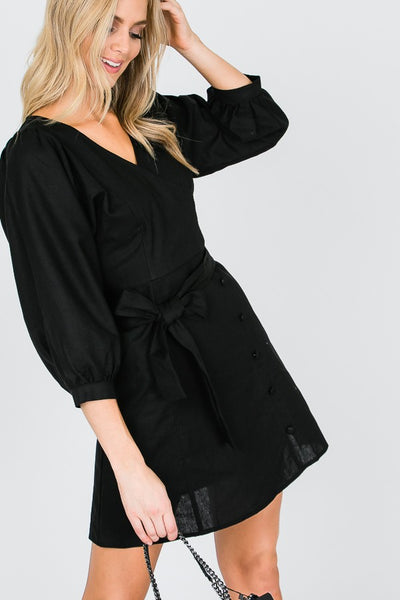 SURPLUS PUFF SLEEVE MIDI DRESS