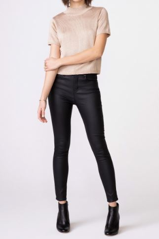 Olivia High Rise Skinny in Burnished