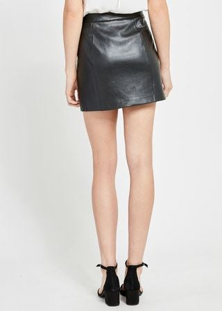 Tesoro Pleather Mini Skirt