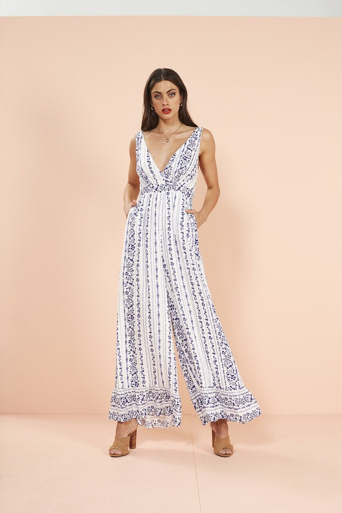 Falling Blossoms Jumpsuit by MinkPink