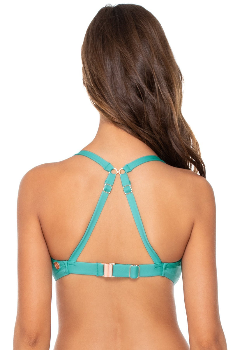 TWIST BANDEAU CROSSROADS SWIM TOP