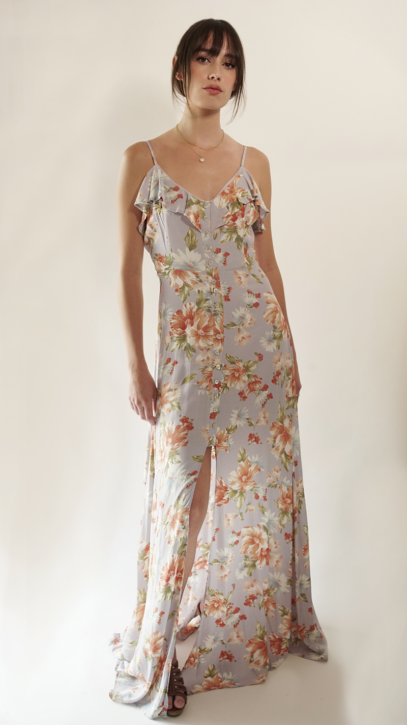 Blossom Button Down Maxi Dress