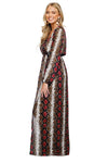 Dolly Merlot Maxi Dress
