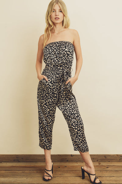 Panther Tube Top Jumpsuit
