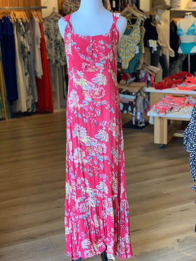 Floral Maxi Dress with Low Back