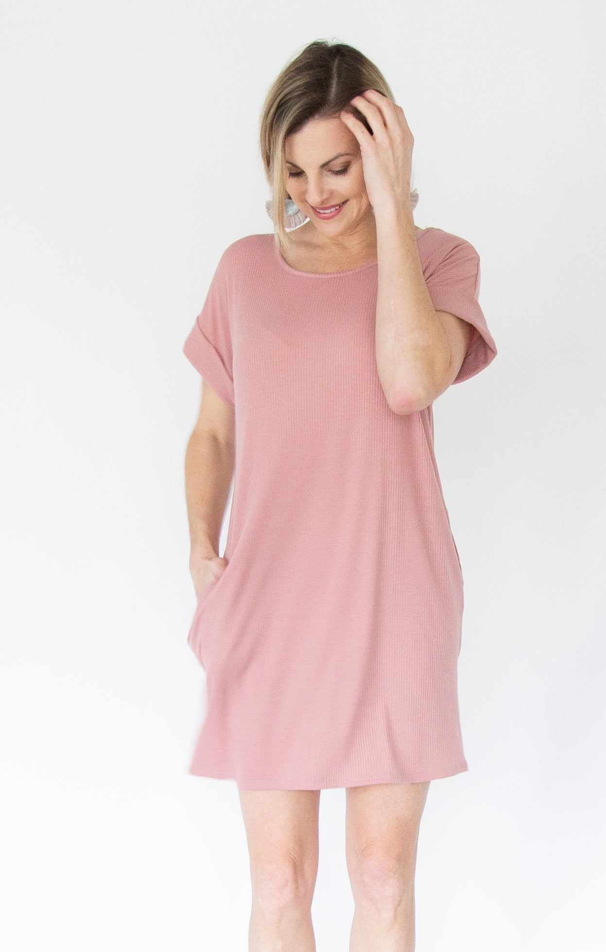 Ribbed T-Shirt Dress