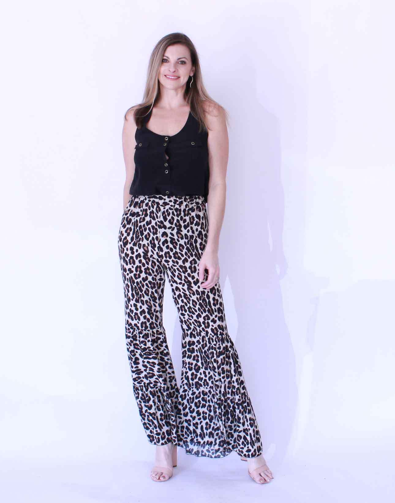 bell bottom leopard print