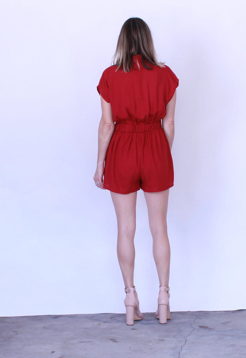 Hometown Wrap Romper by MinkPink