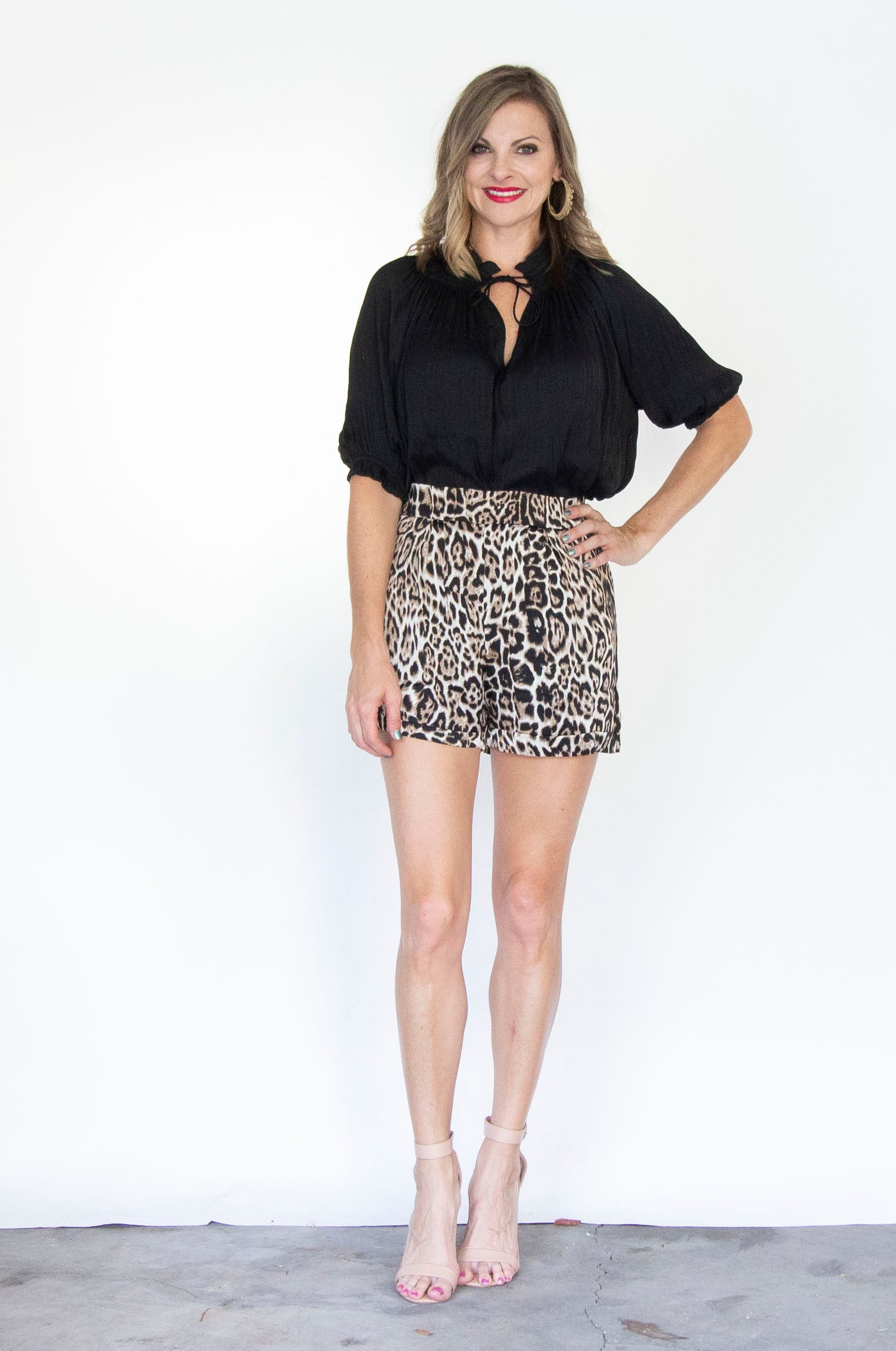Willow High Waist Cheetah Shorts by Lucca