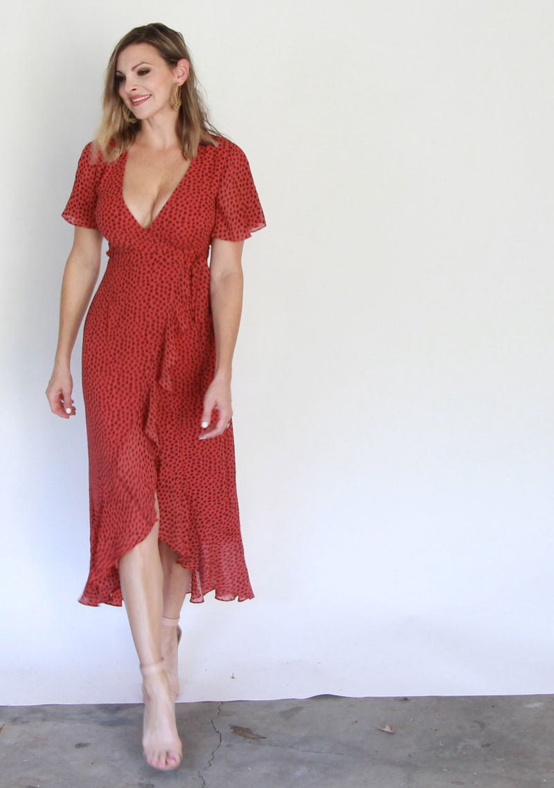 Rose Wrap Dress
