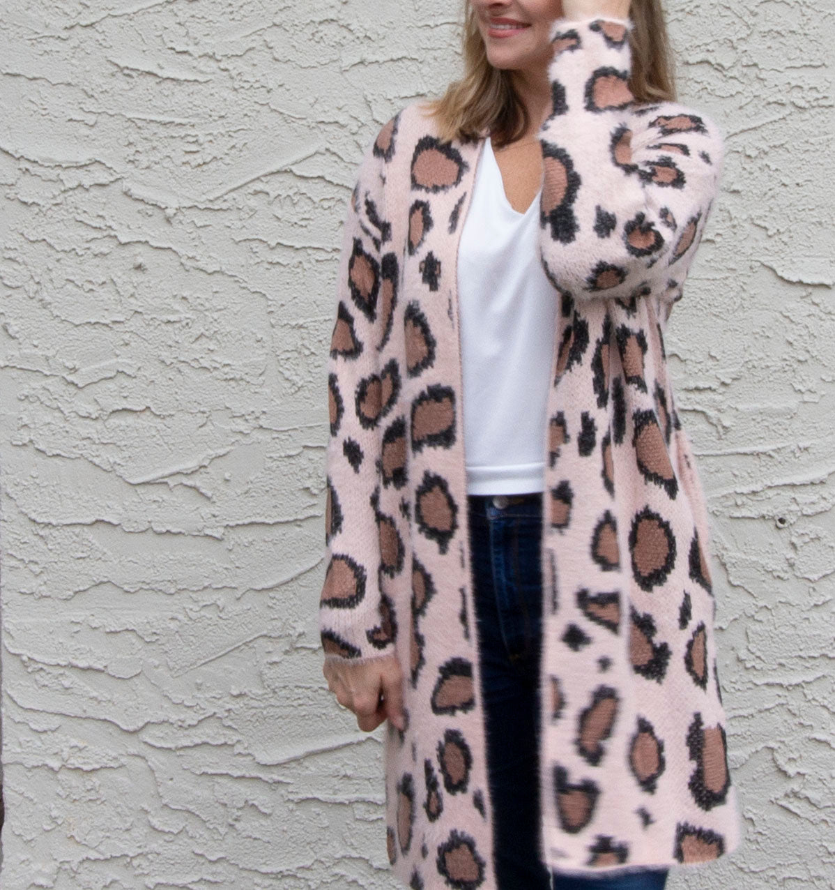 Soft Pink Animal Print Carigan