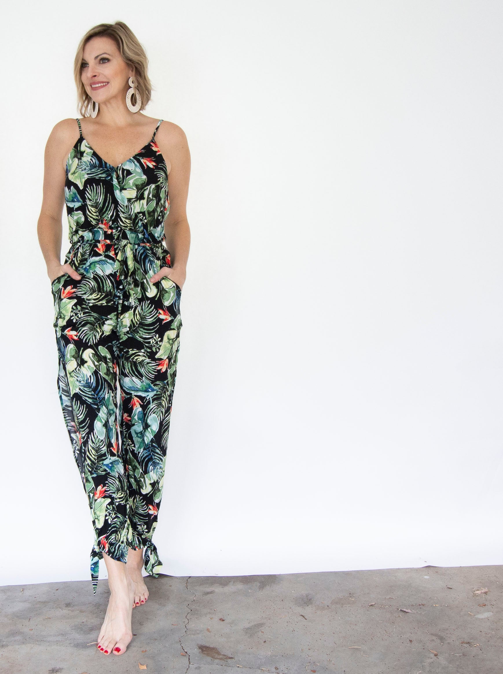 Tropical Split Leg Jumpsuit