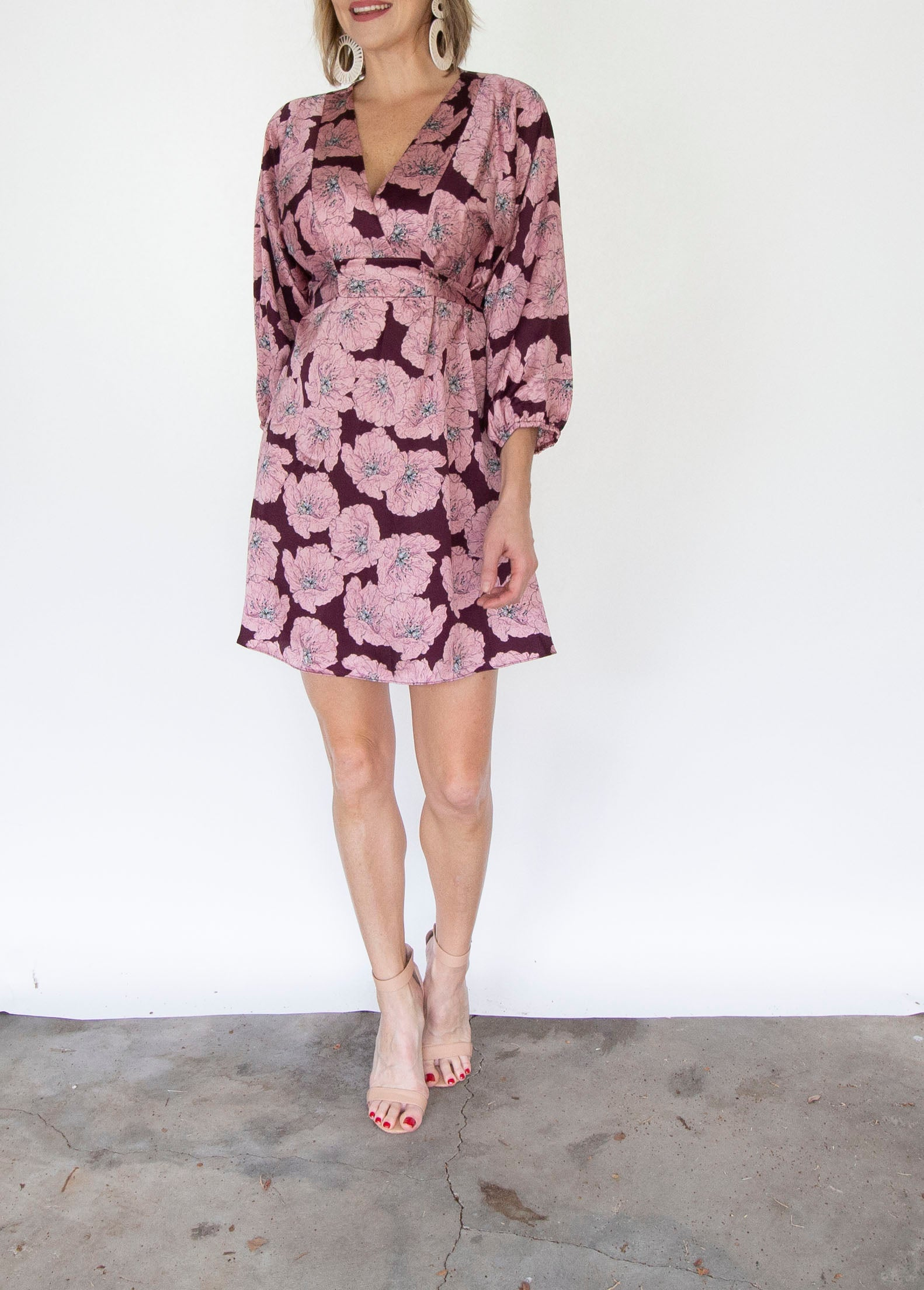 Kimono Belted Mini Dress