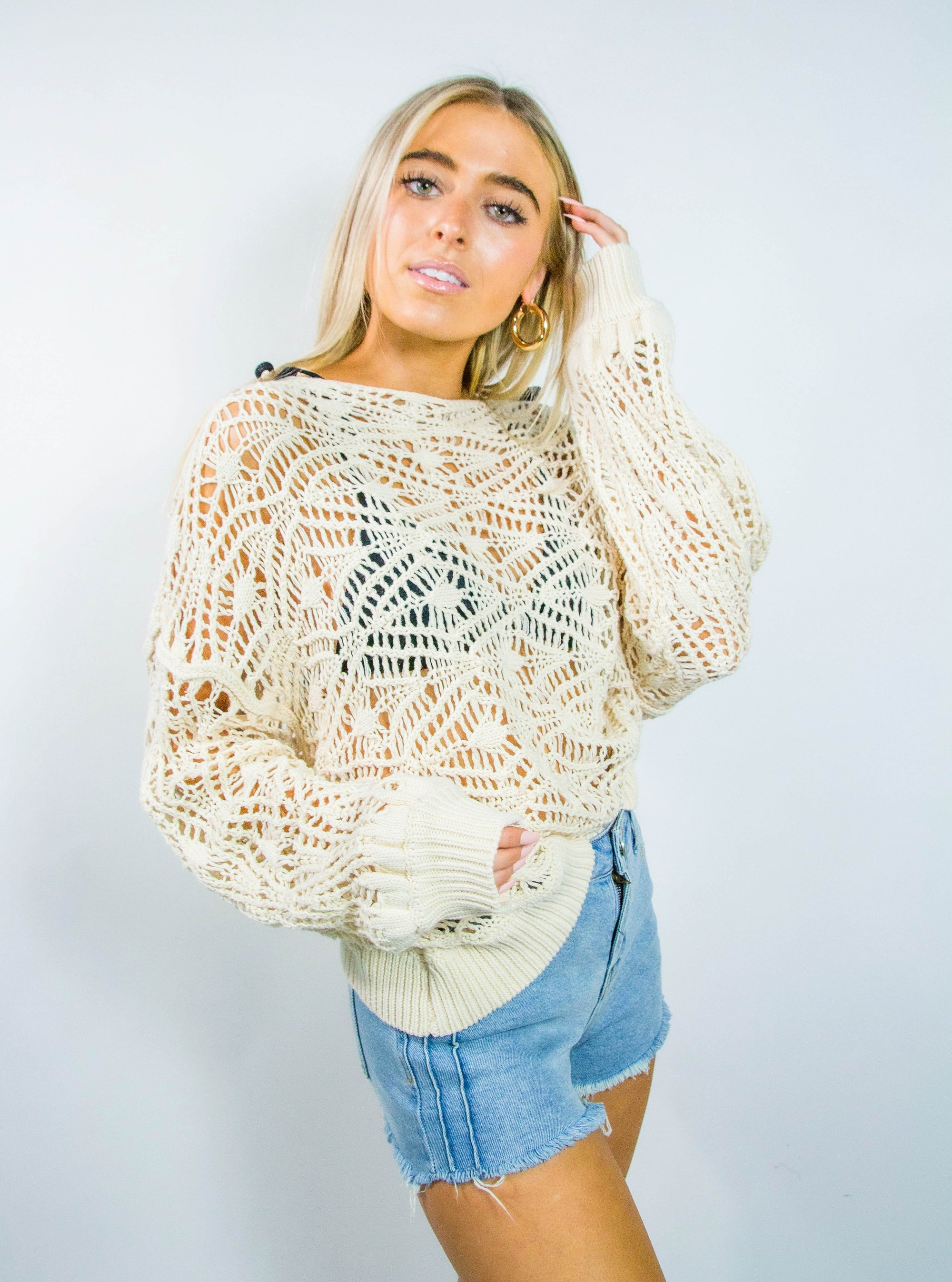 Loose Knit Beach Sweater