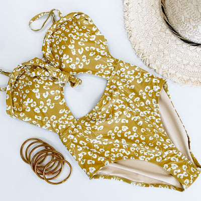 YELLOW FLORAL ONE PIECE