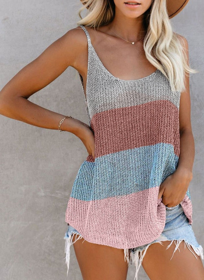 Loose Knit Sweater Tank