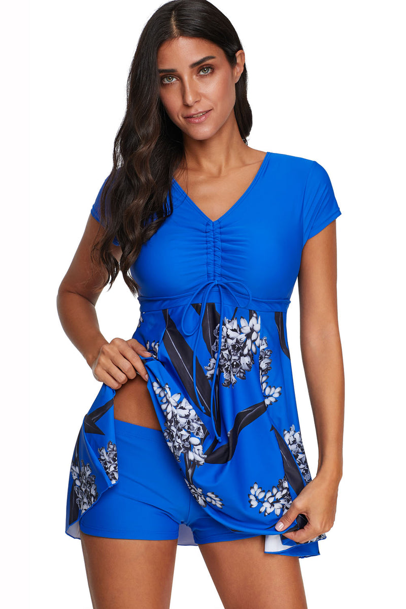 Short Sleeve Swim Dress Tankini