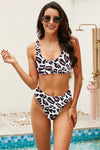 Athletic Leopard Swim Top