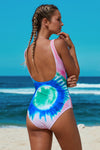 Tie Dye Open Back One Piece