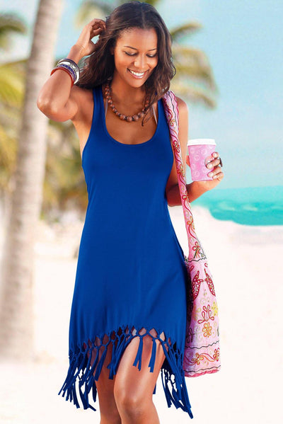 Beach Time Cover Up with Fringe