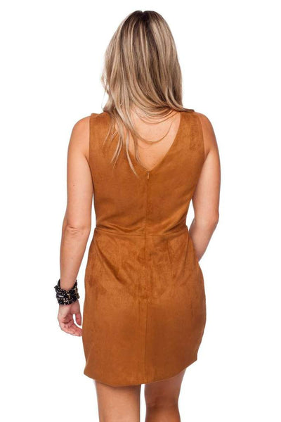 Stevie Cut Out Suede Dress