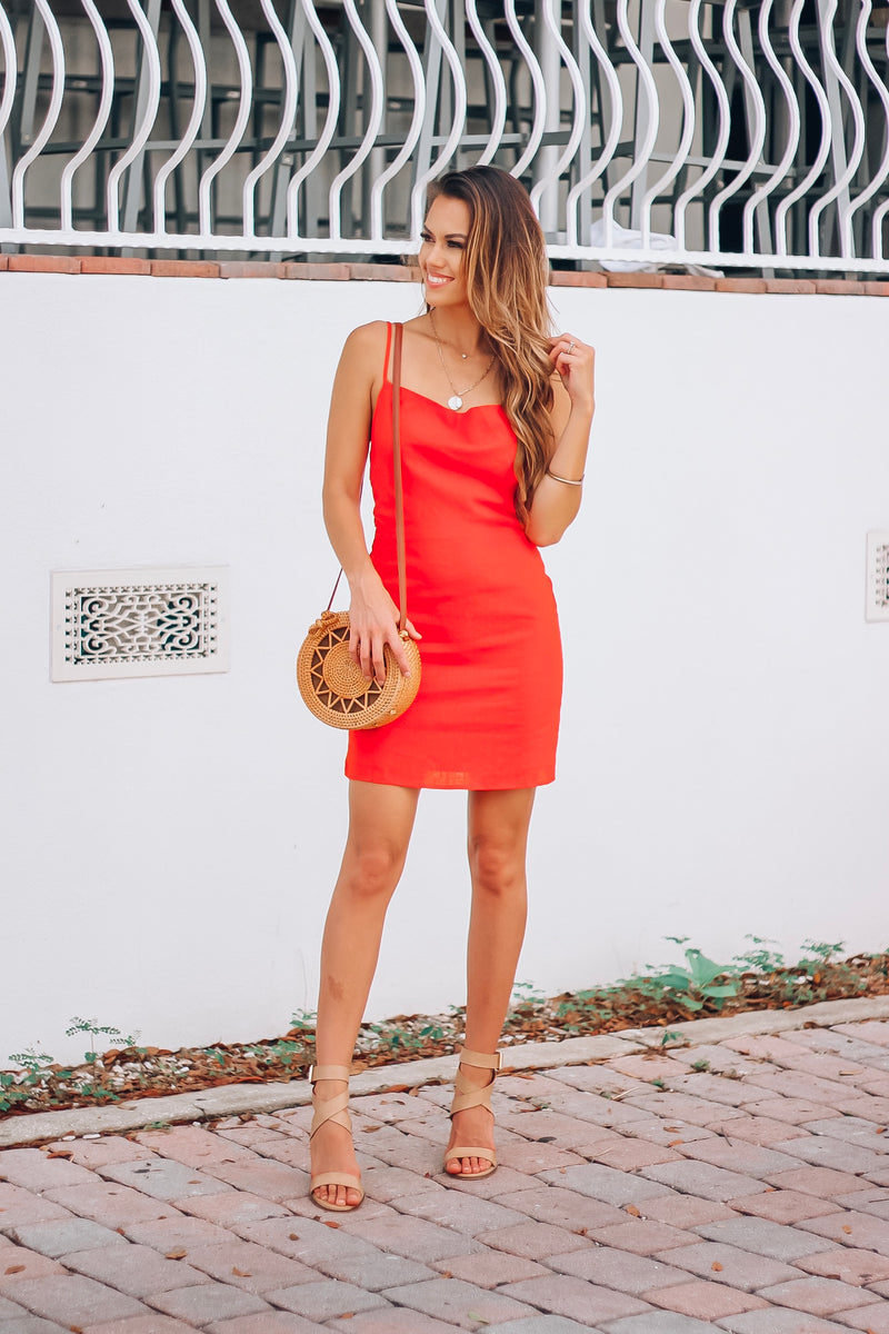 Cherry Red Tie Dress