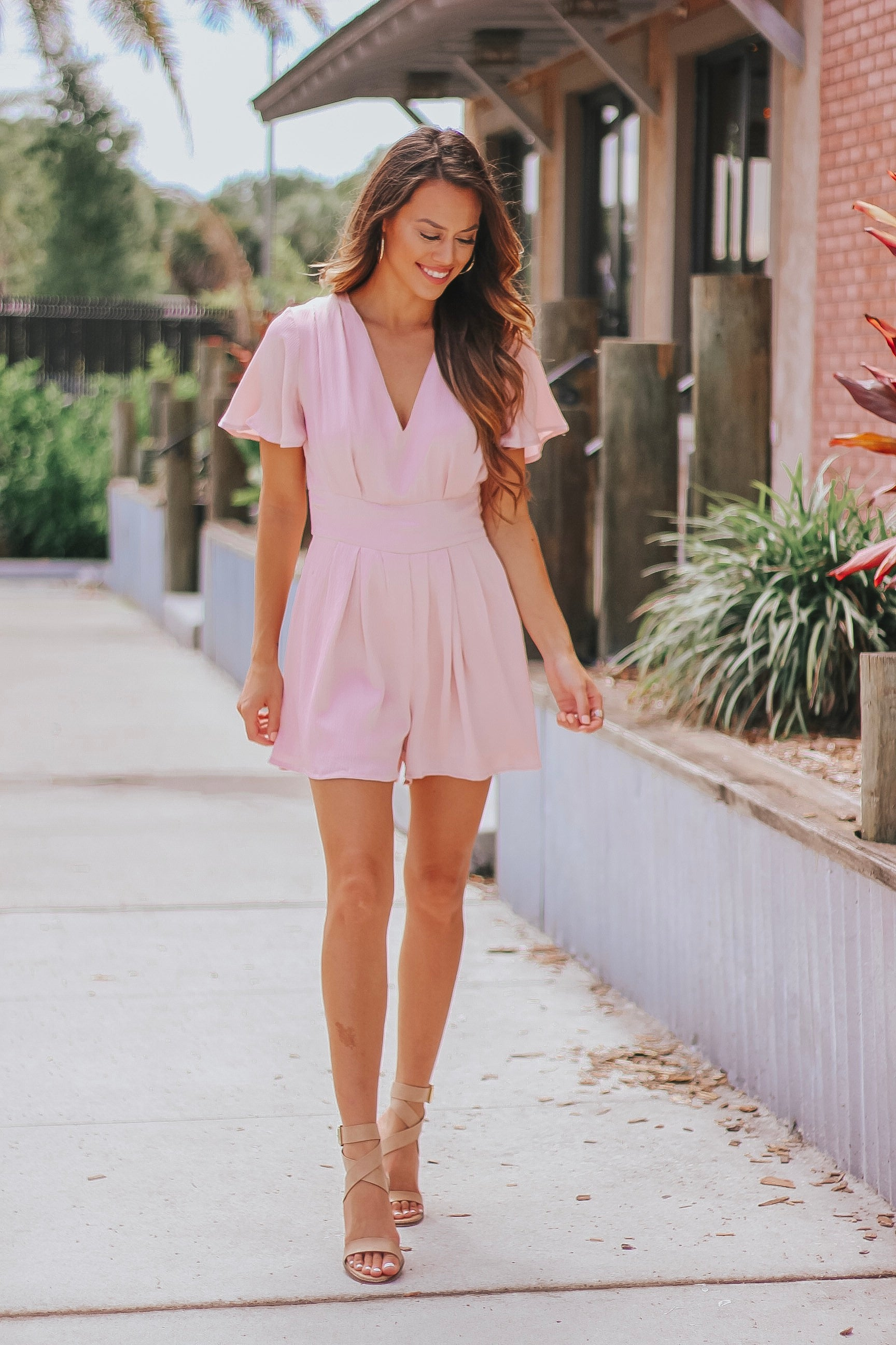 Simple and Sleek Romper in Rose'
