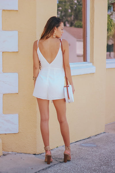 Linen Ties Wrap Playsuit