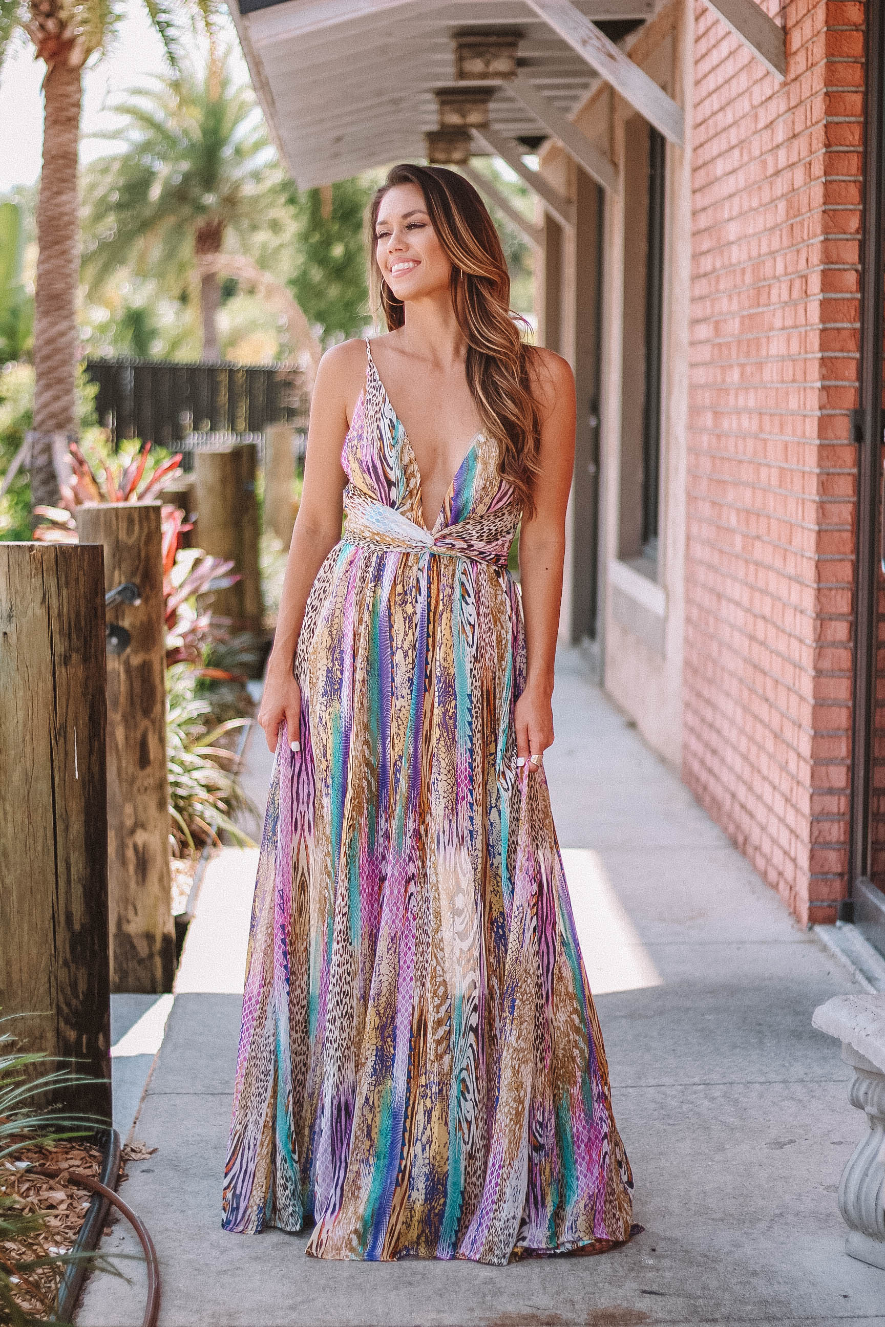 Leapord Mix Maxi Gown