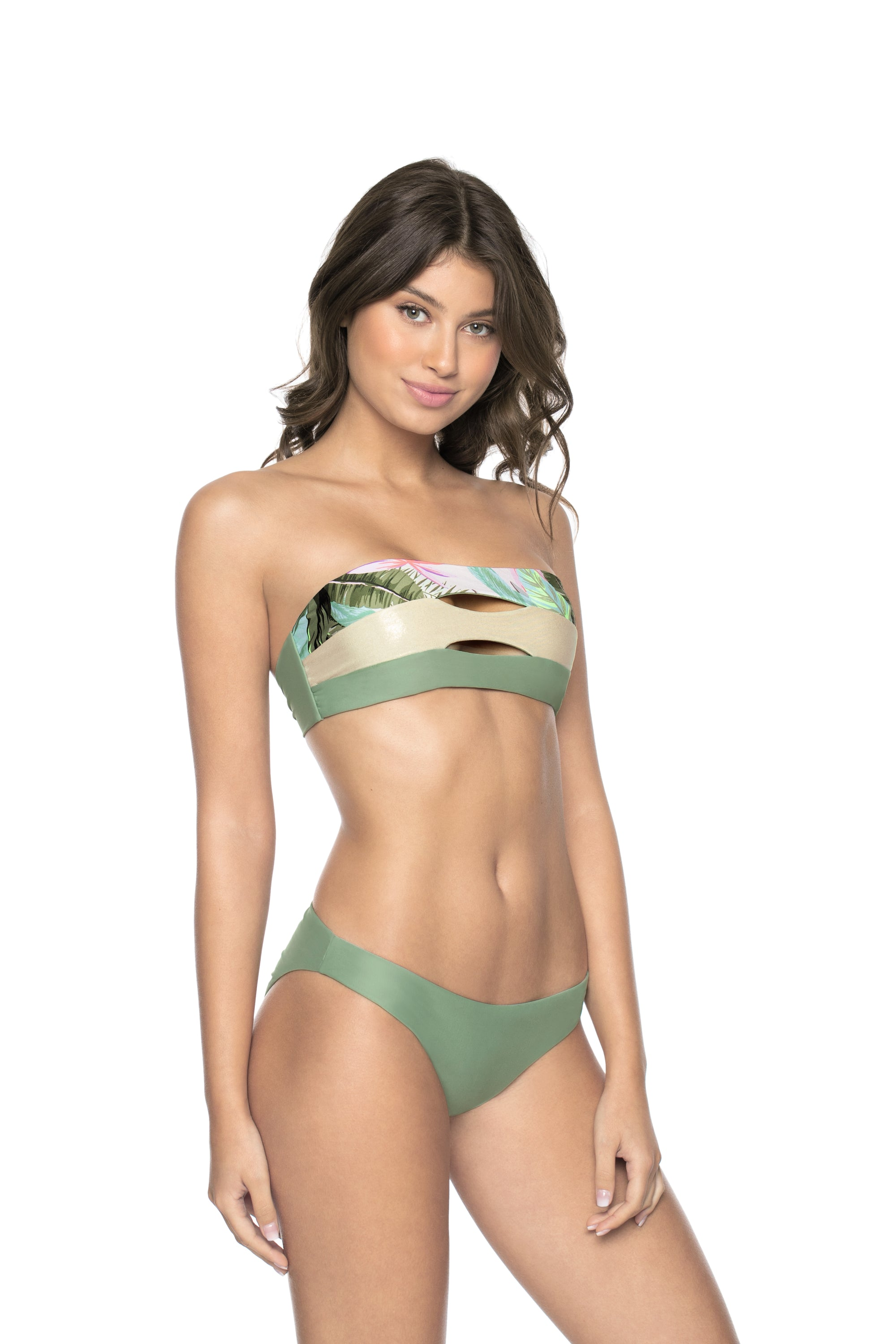 Sage Basic Ruched Bottoms Teeny Coverage by PilyQ