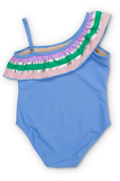 IT'S ALL RAINBOWS ONE SHOULDER ONE PIECE SWIMSUIT