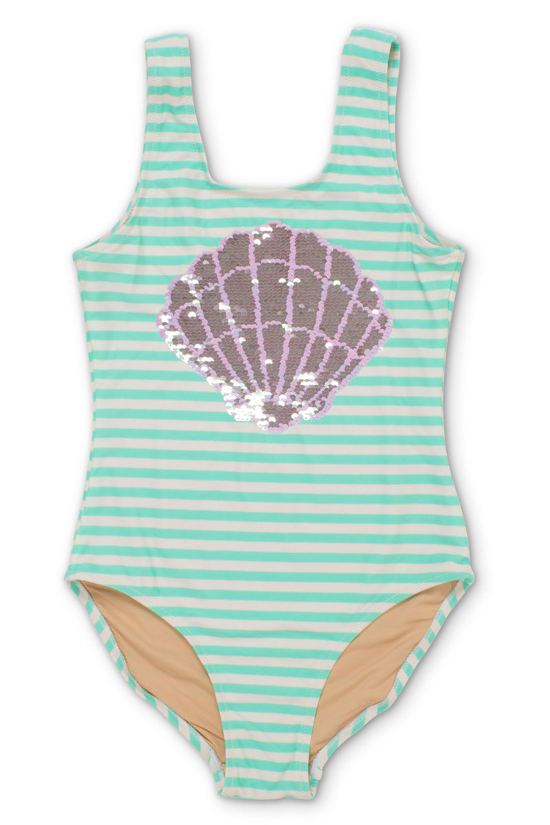 MAGIC TWO-WAY SEQUINS MERMAID ONE PIECE SWIMSUIT