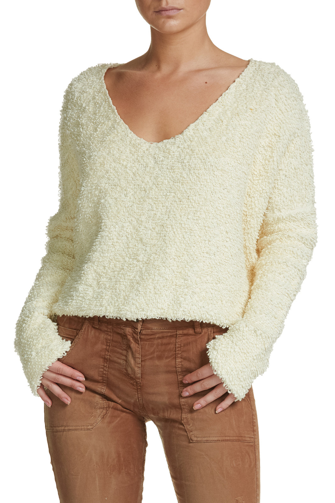 V-Neck Slouchy Sweater