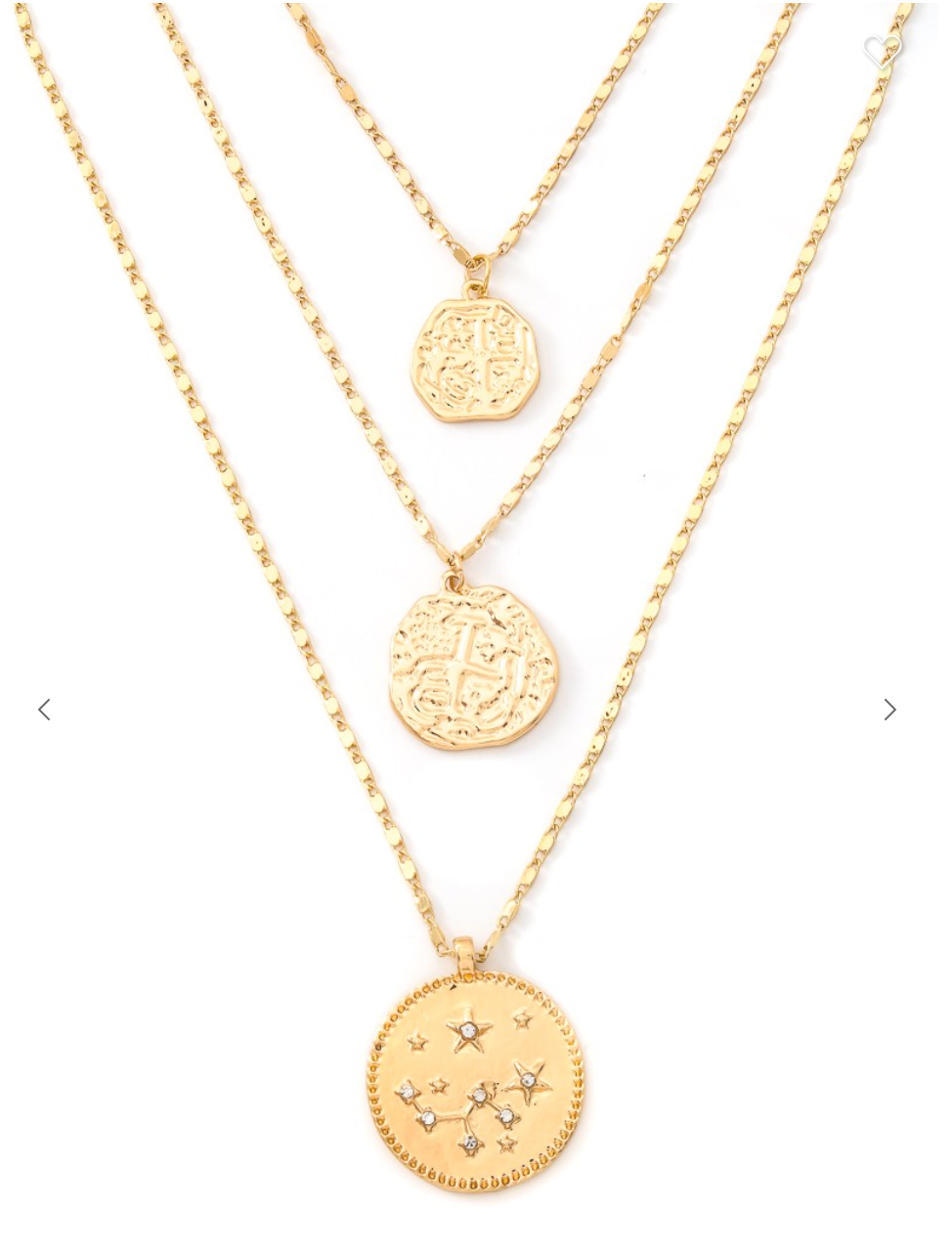 Astral Coin Pendant Necklace
