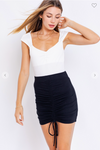 FRONT ADJUST STRAP MINI SKIRT
