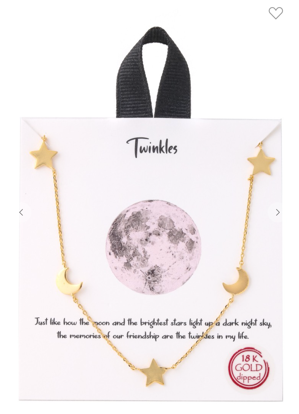 Twinkle Night Sky Necklace