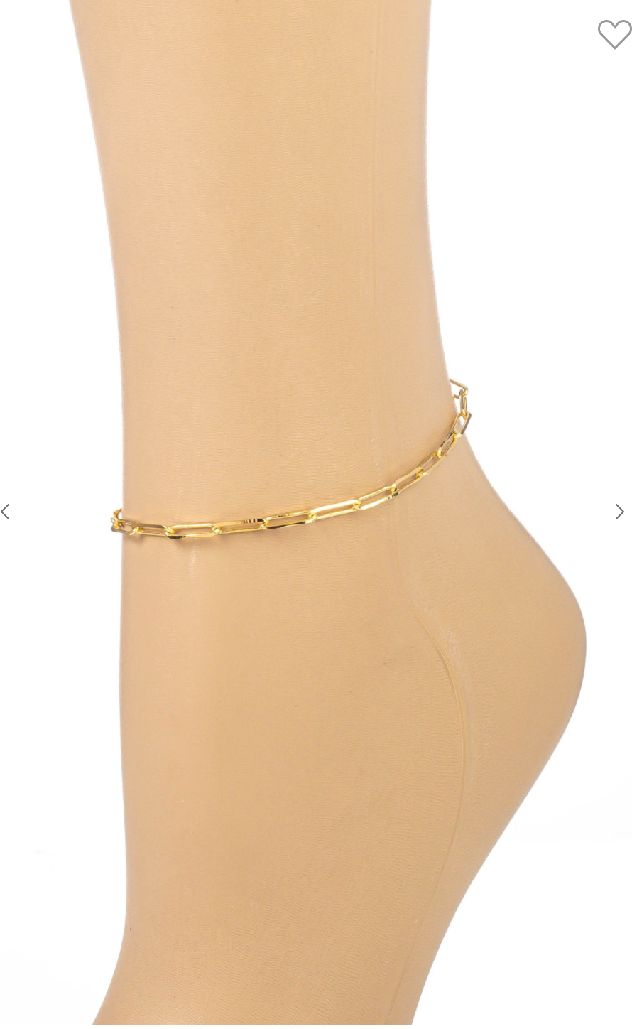 Dainty Oval Chain Link Anklet