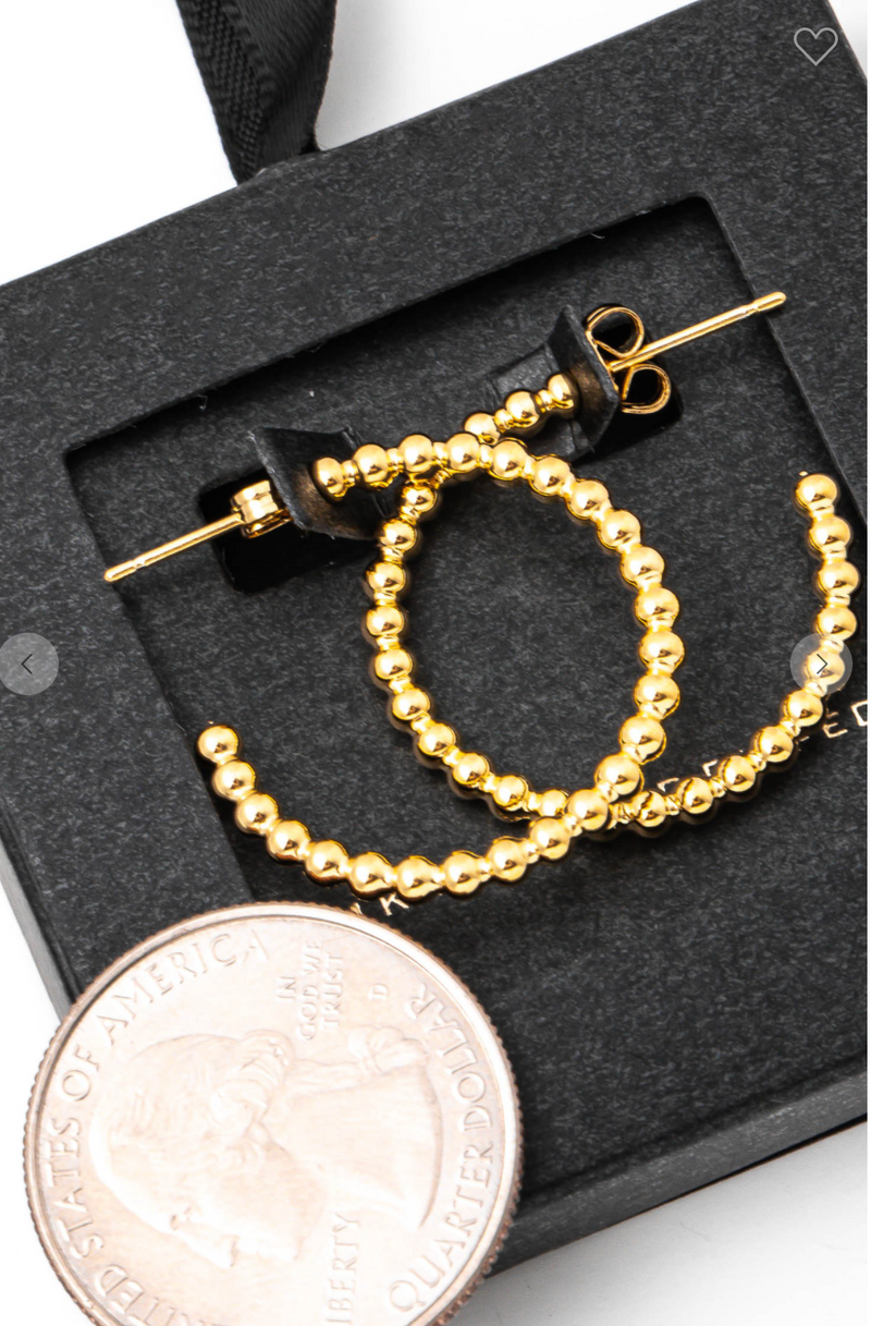 14k Ball Hoop Earrings