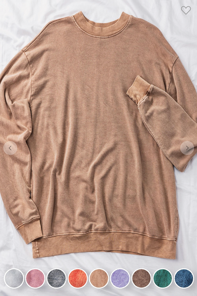 WASHED TWOTONE FRENCHTERRY SWEATSHIRTS