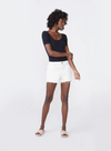 Laine Eggshell Shorts by Unpublished
