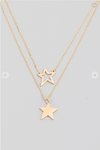 Dainty Layered Star Pendant Necklace