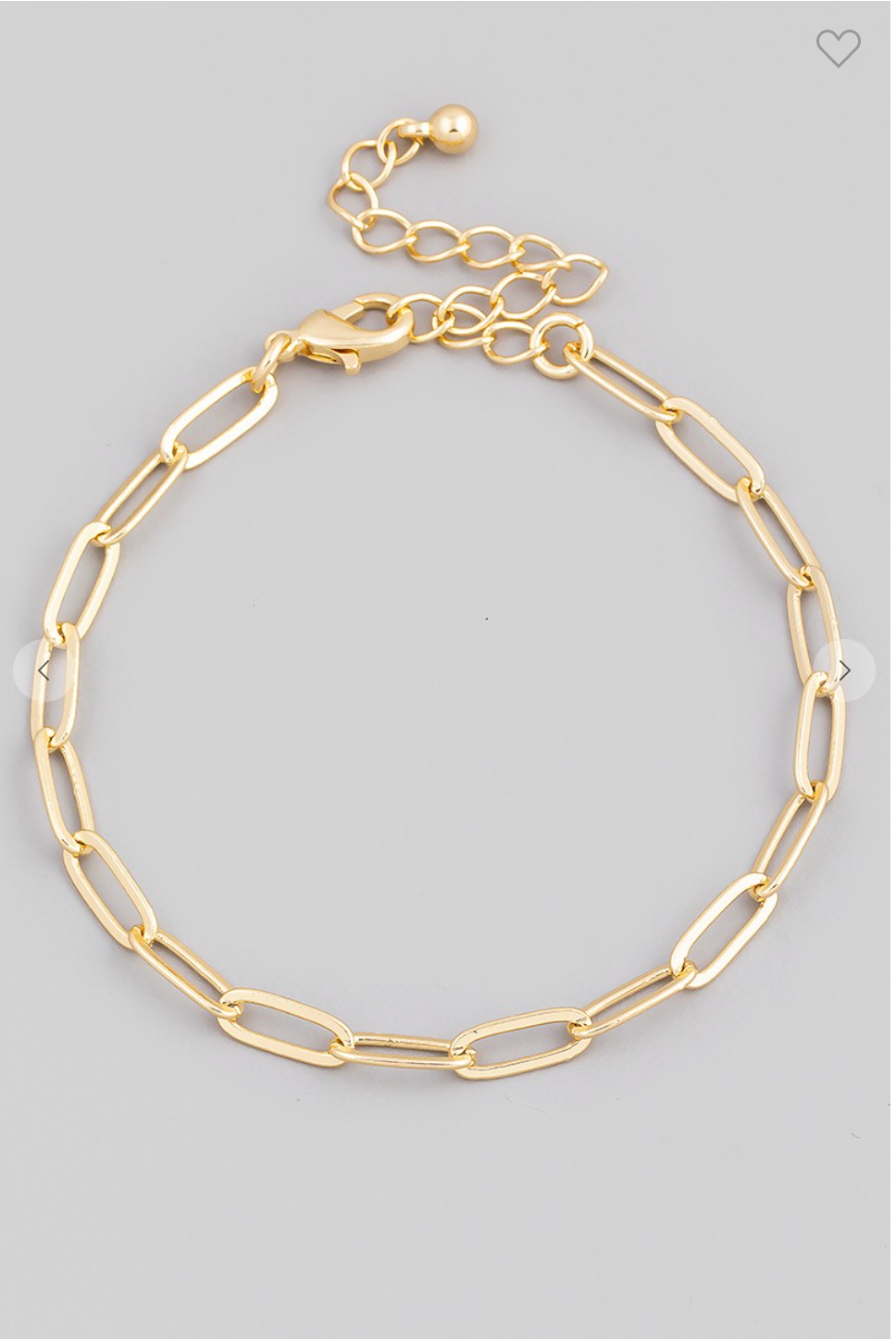 Oval Chain Link Lobster Clasp Bracelet